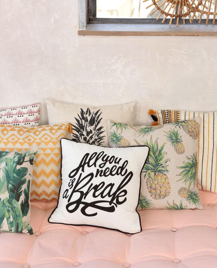 housse de coussin tiss e jaune 902259014i09 pimkie. Black Bedroom Furniture Sets. Home Design Ideas
