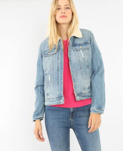 Blouson en jean bleu denim