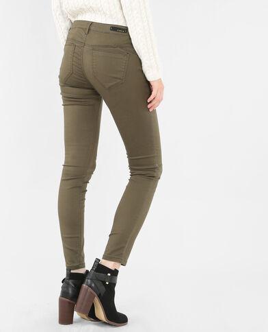 Pantalon slim kaki