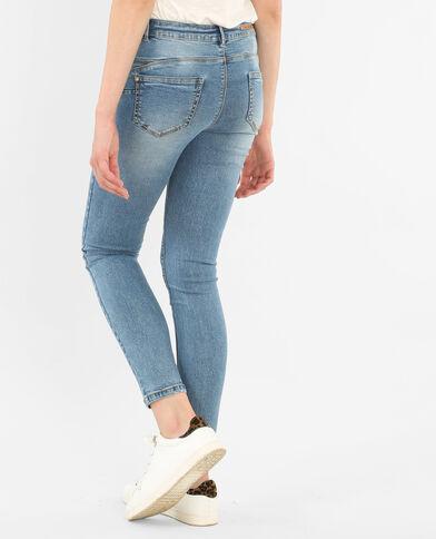Jeans skinny push-up azul
