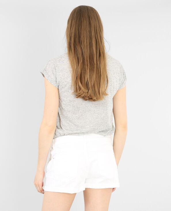 T-shirt gioiello grigio perla