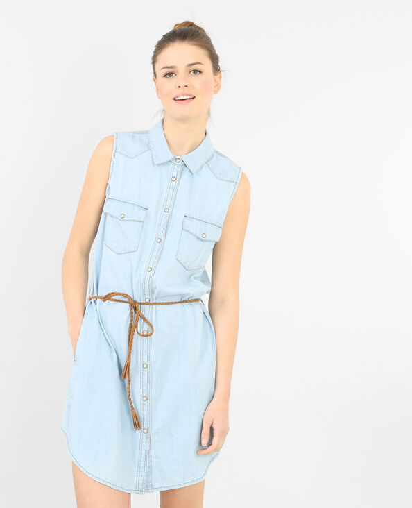 Jeans-Kleid Himmelblau