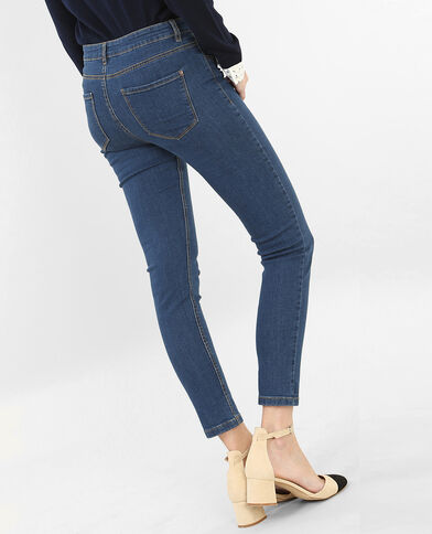 Skinny-Jeans mit hoher Taille Blau