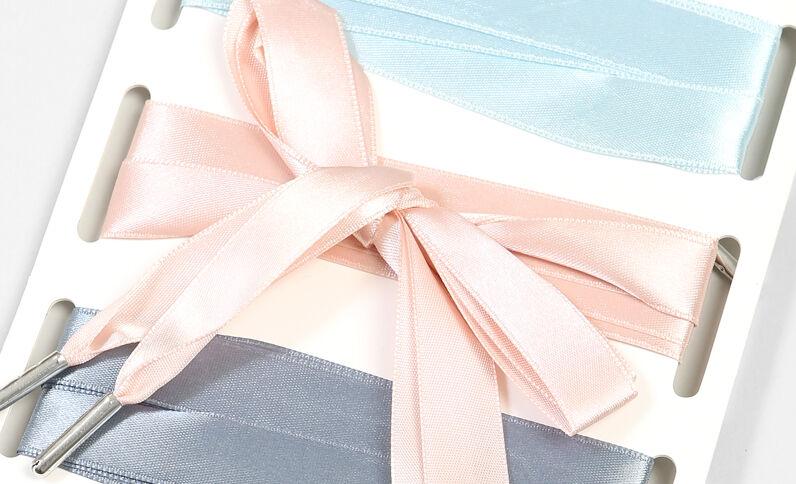 Set van 3 paar satijnen veters roze
