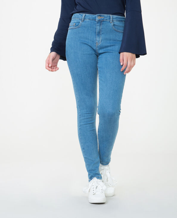 High Waist Skinny Jeans Blau