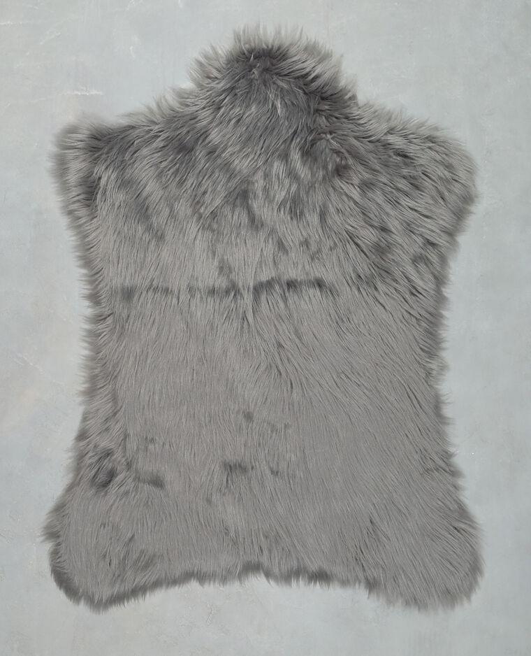 tapis fausse fourrure gris anthracite 955094824a08 pimkie. Black Bedroom Furniture Sets. Home Design Ideas