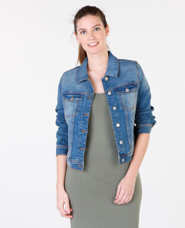 Veste denim bleu