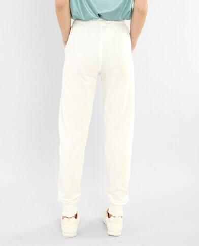 Pantalones de jogging marfil