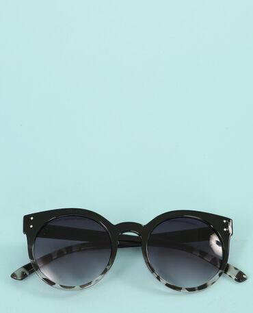 Lunettes rondes yeux de chat noir