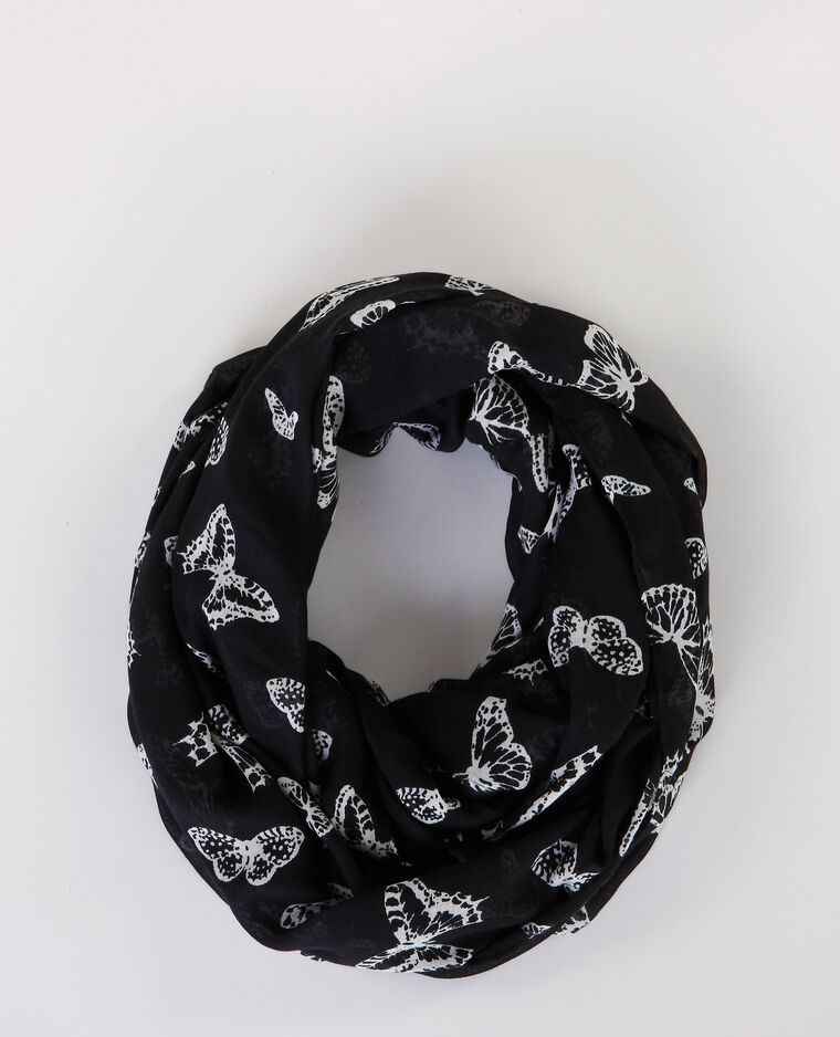 Foulard collo stampato nero