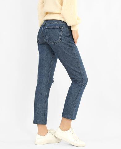 Mom-Jeans im Destroy-Look Denimblau