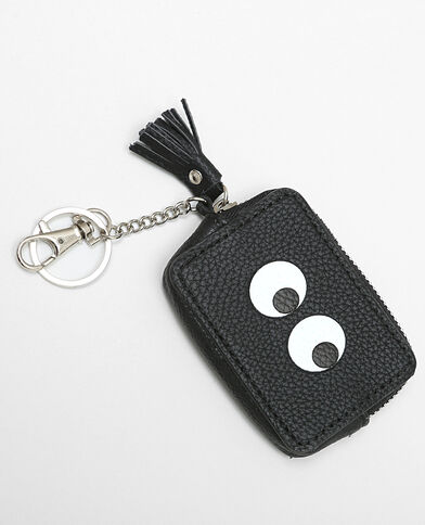 Mini porte-monnaie porte -clés noir
