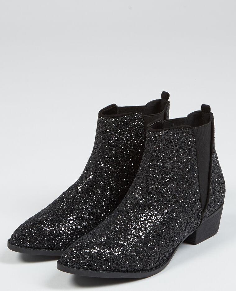 Boots chelsea glitter noir