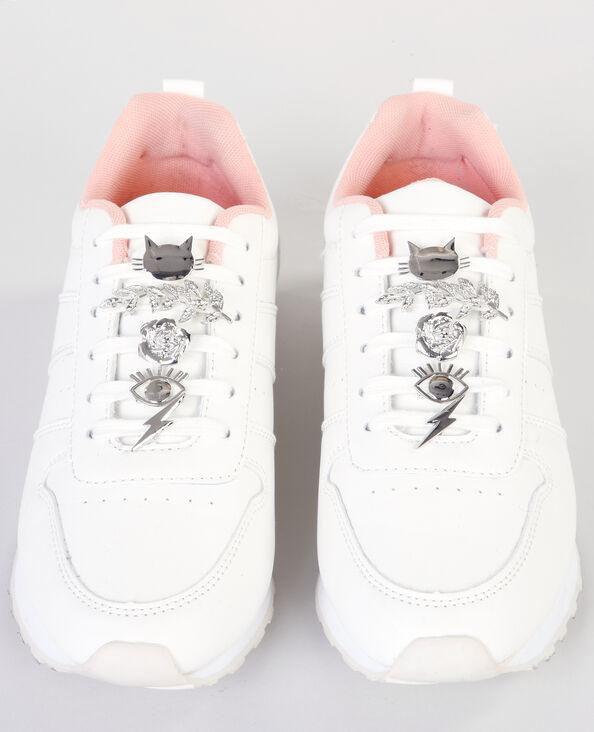 Gioielli per scarpe grigio paillettato