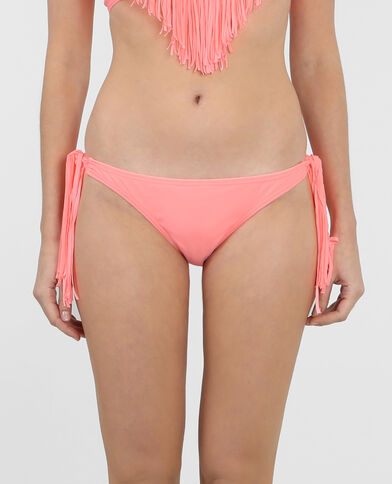 Bikinihöschen mit Fransen Korallenrot