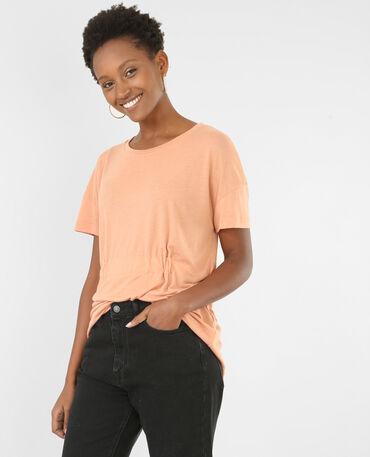 T-shirt met strik bruin