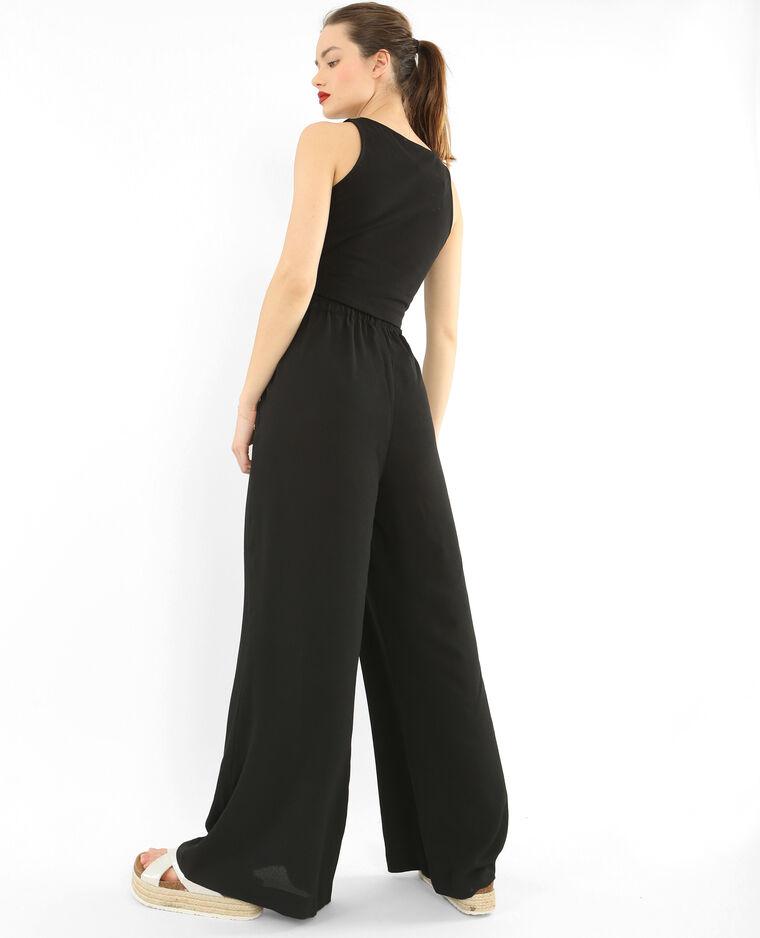 pantalon large effet cr pe noir 50 140272899a08 pimkie. Black Bedroom Furniture Sets. Home Design Ideas