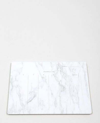 Bloc de feuilles weekly blanc