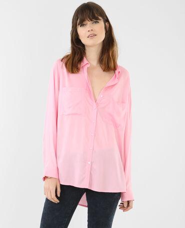Camicia tinta unita rosa