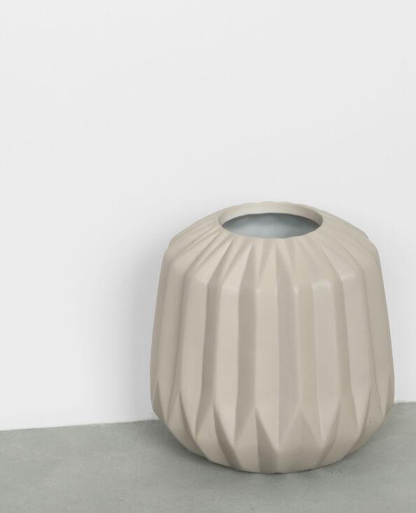 Vase éventail gris