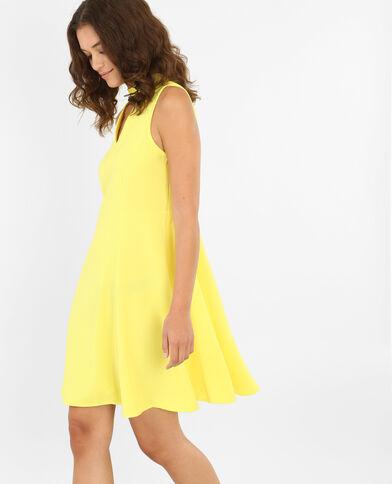 Skaterjurk met chokerhals geel