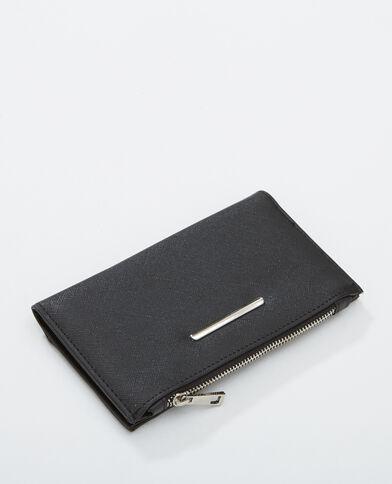 Portefeuille plat noir