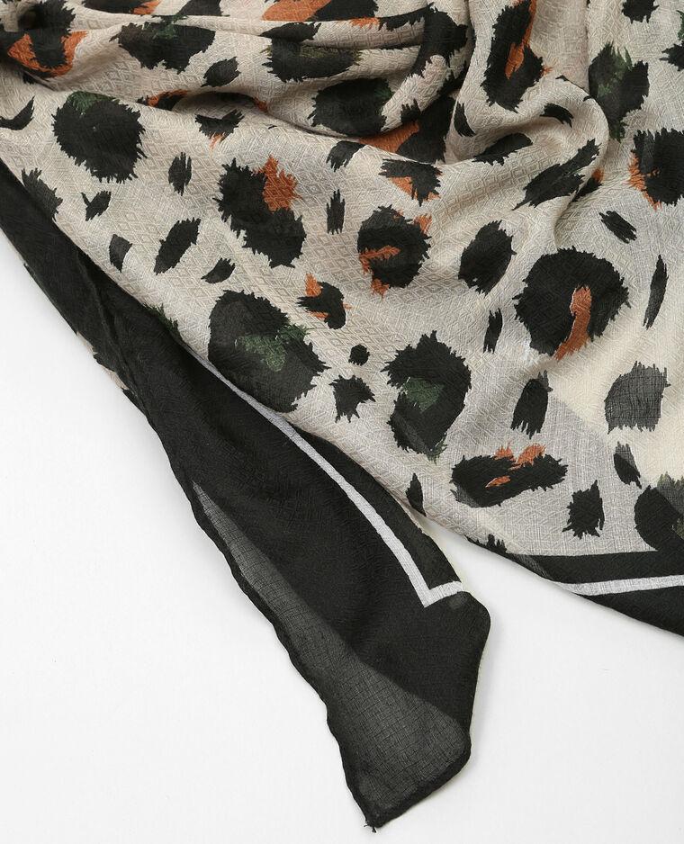 Foulard sottile stampato Beige