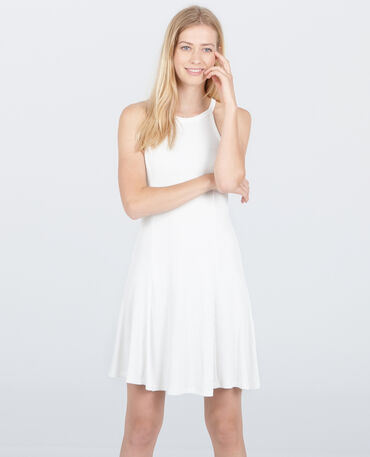 Trapez-Kleid Altweiß