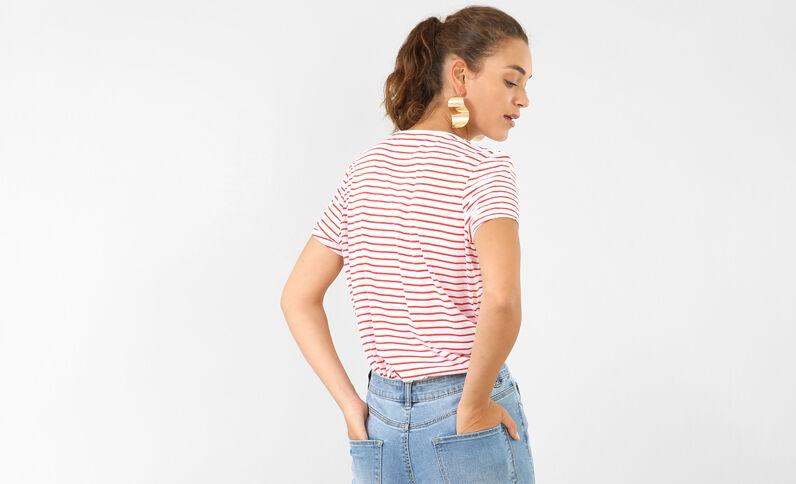 T-shirt met strepen wit