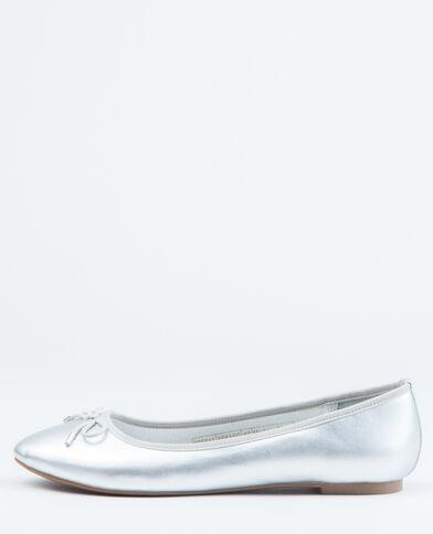 Ballerinas in Metallic-Grau Silber