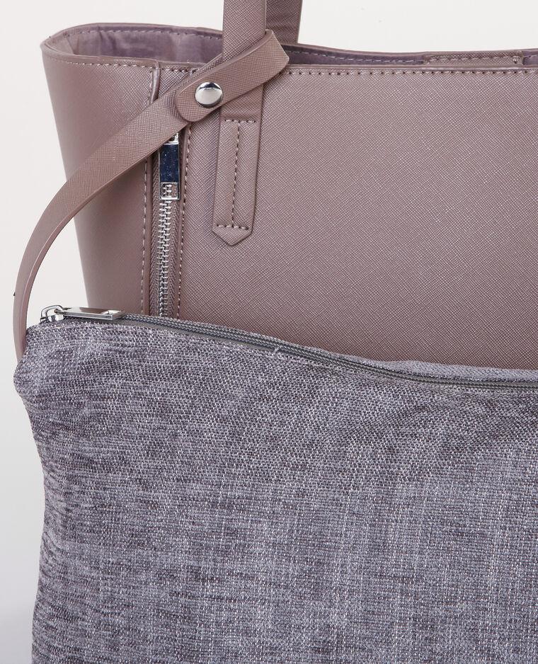 einkaufstasche mit rei verschluss taupebeige 983089774i47 pimkie. Black Bedroom Furniture Sets. Home Design Ideas