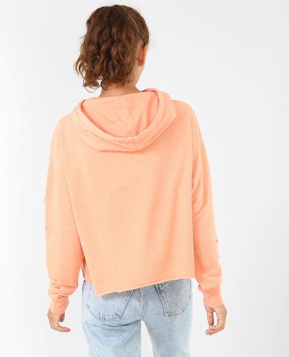 Felpa bucata arancio