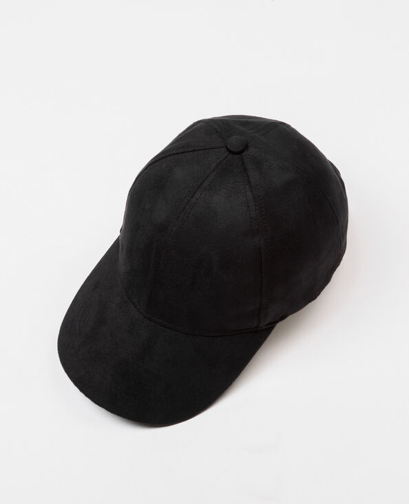 Casquette suédine noir