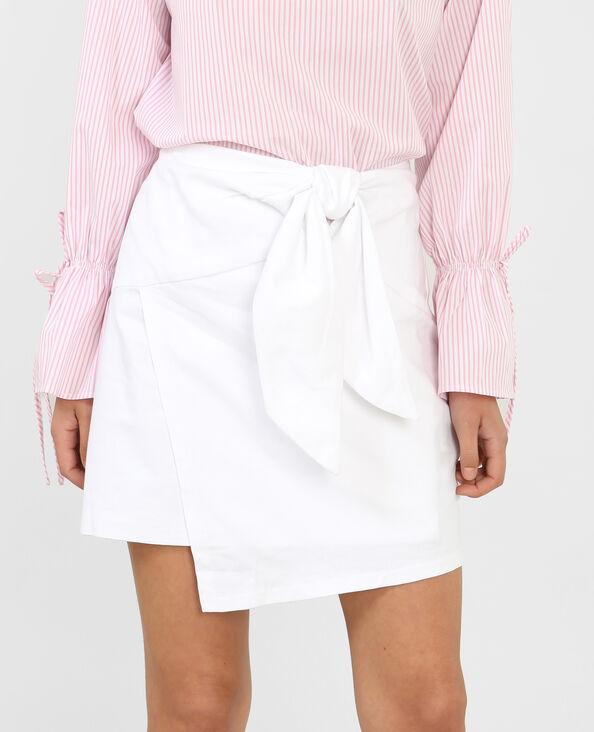 Falda asimétrica blanco