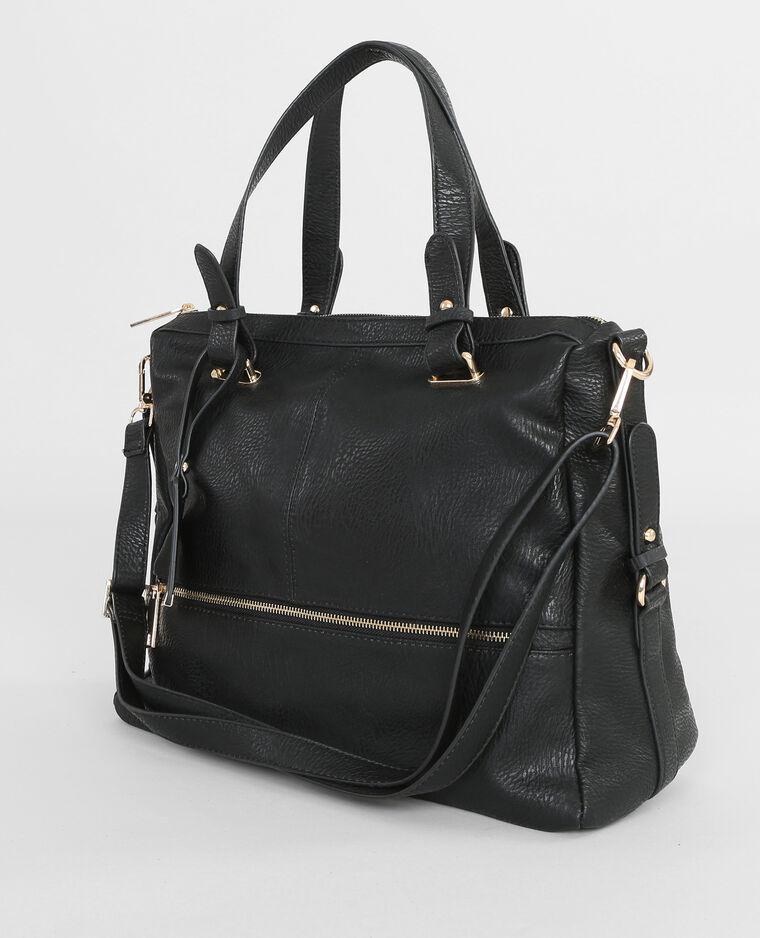 einkaufstasche mit rei verschluss schwarz 983086899a08 pimkie. Black Bedroom Furniture Sets. Home Design Ideas