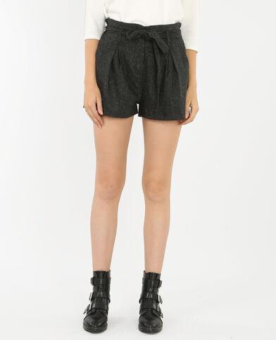 Karotten-Shorts mit Gürtel Grau