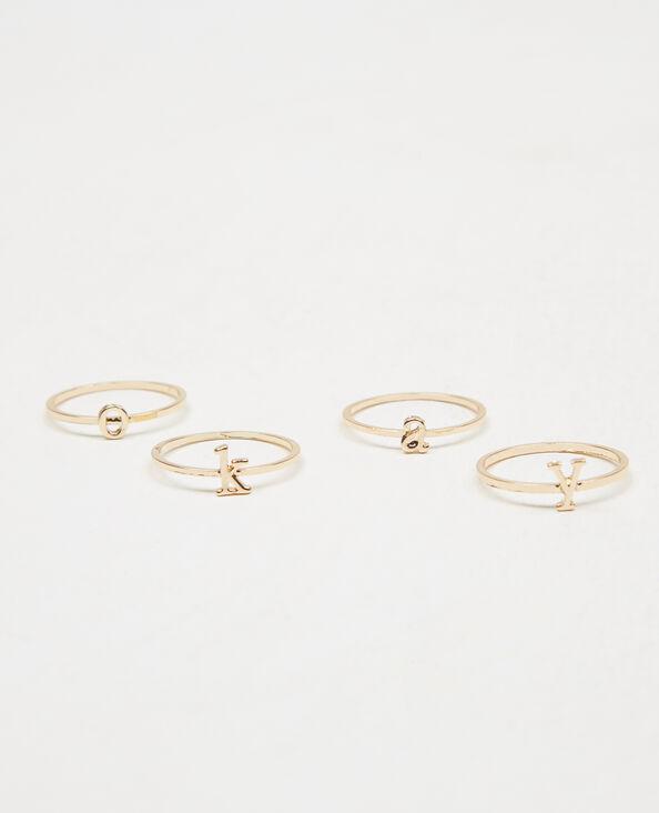 Lotto di anelli OKAY dorato