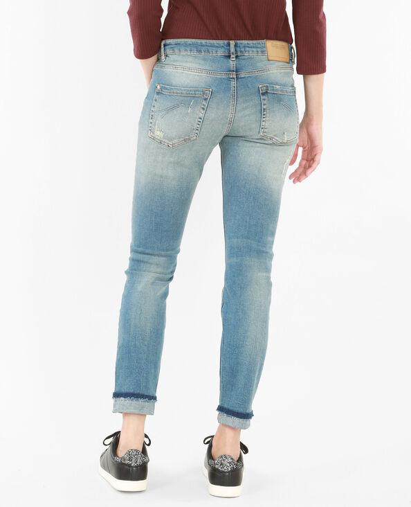 Jeans slim destroy blu denim