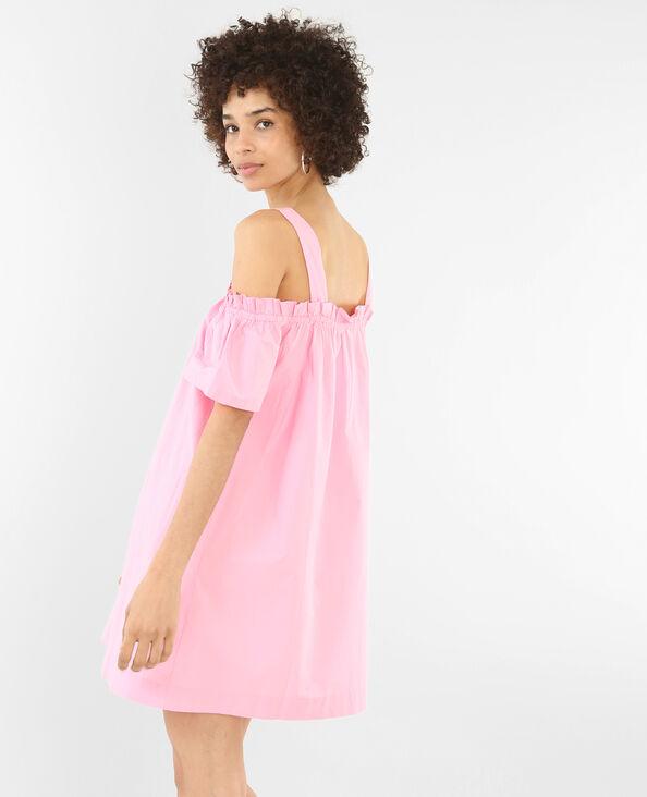 Kleid mit Peekaboo-Ärmeln Rosa