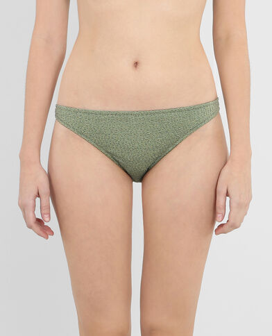 Bas de maillot de bain lurex vert