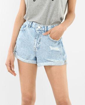 Gebleichte Jeans-Shorts Verwaschenes Blau