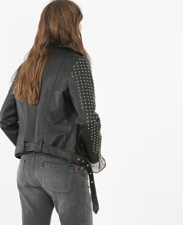Giubbotto da motociclista con le borchie nero