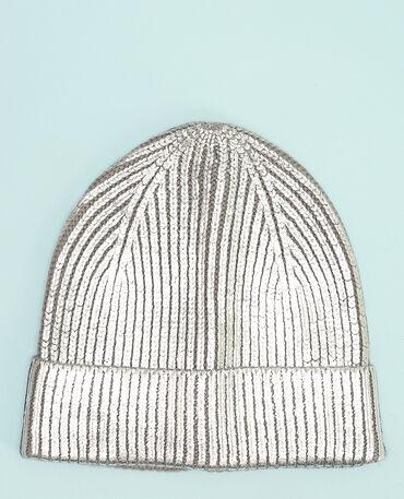 Mütze mit Metallic-Effekt Schwarz