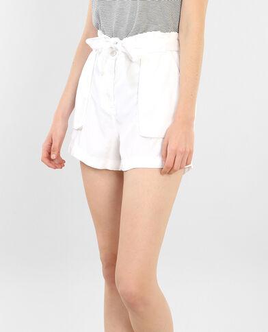 Shorts de talle alto crudo