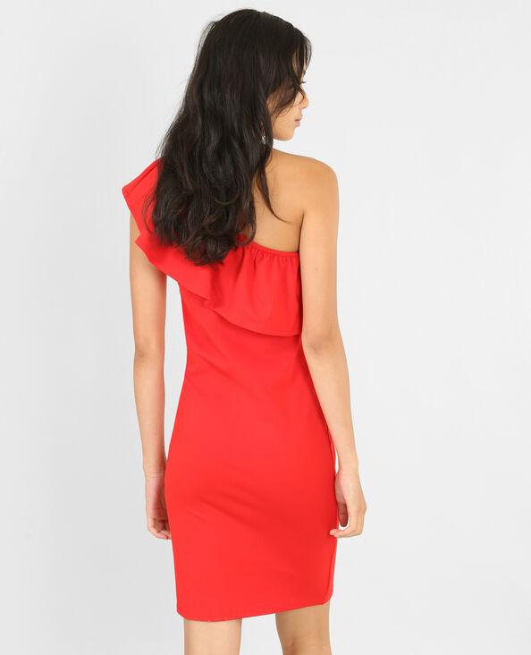 Bodycon-Kleid One Shoulder Rot