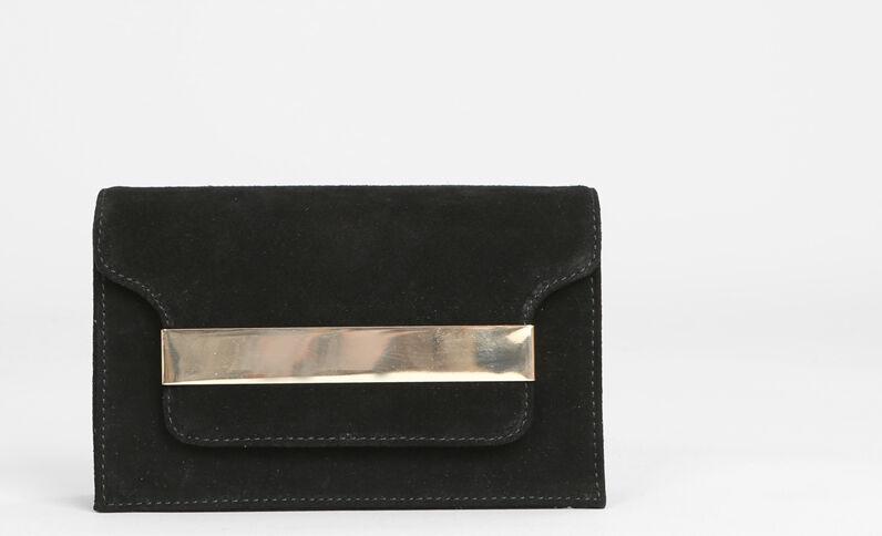 Sac boxy plaque métal noir
