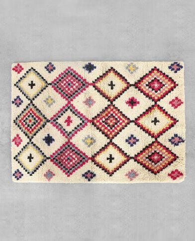 Kleurrijk tapijt in Berberstijl blauw