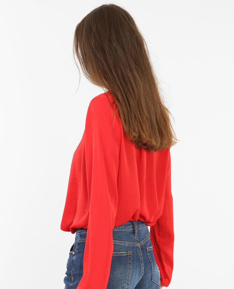 Locker fallende Bluse Rot