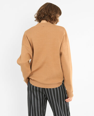 Oversize-Pullover Kastanienbraun
