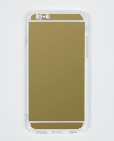 I-Phone-Schale mit Spiegel white gold